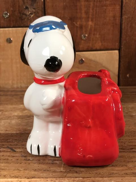 "Vintage Peanuts Snoopy ""Tennis"" Ceramic Container (5)"