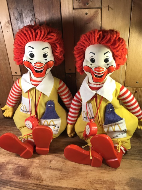 Vintage Hasbro Ronald McDonald Clown Plush Doll (48)
