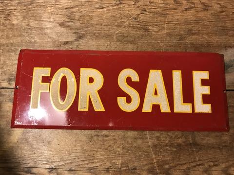 vintage for sale metal sign (1)