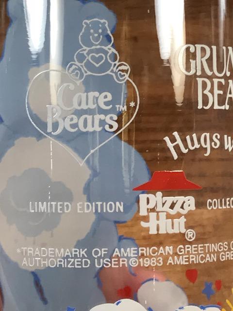 "Vintage Pizza Hut Care Bears ""Grumpy Bear"" Glass (21)"