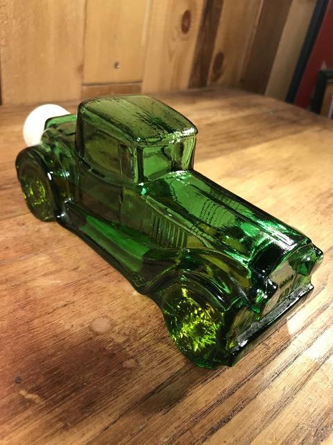 Vintage Avon After Shave Old Car Glass Bottle (26)