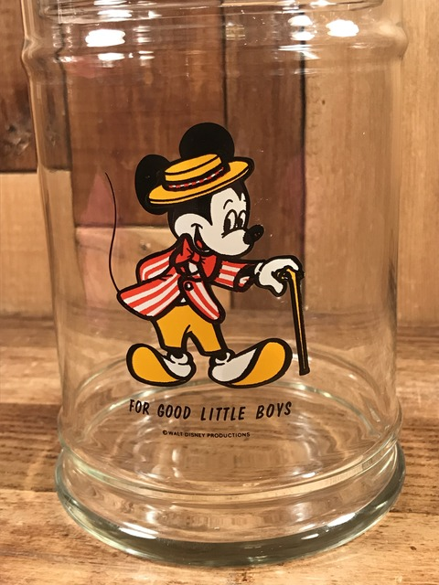 Vintage Disney Mickey Mouse Glass Candy Jar (10)