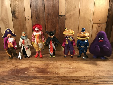 Vintage Remco McDonaldland Characters Play Set (28)