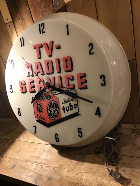 vintage TV radio service lighted wall clock (2)