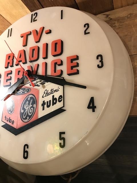 vintage TV radio service lighted wall clock (12)