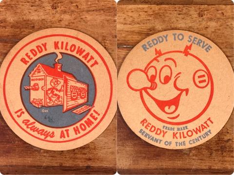 """Vintage Reddy Kilowatt """"Reddy To Serve"""" Coaster"""