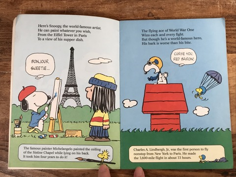 "Vintage Peanuts ""Snoopy Does It All!"" Picture Book (12)"