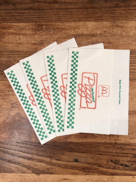 Vintage McDonald's Pizza Paper Napkins (1)