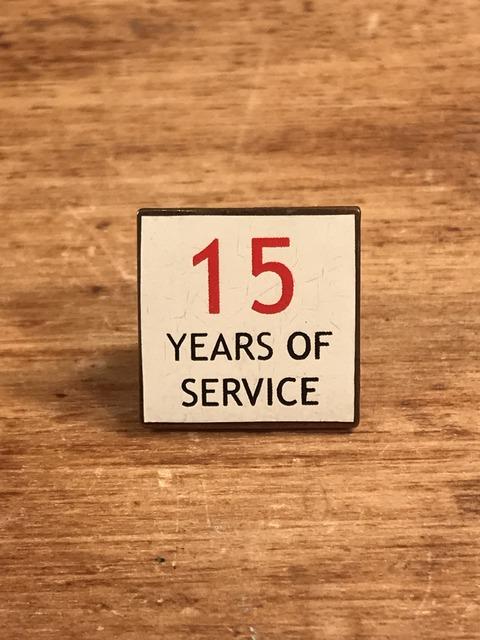 Vintage 15 Years Of Service Metal Pins (1)