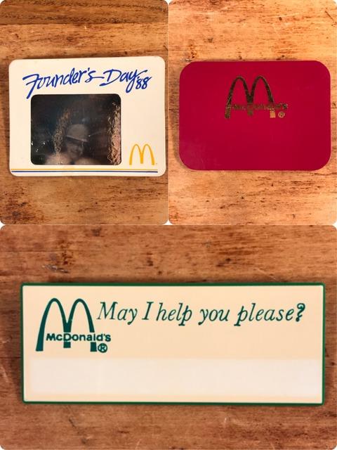 Vintage McDonald's Crew Name Badge