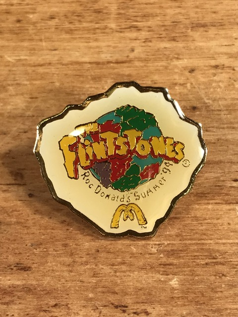 "Vintage McDonald's ""The Flintstones "" Enamel Pins (1)"