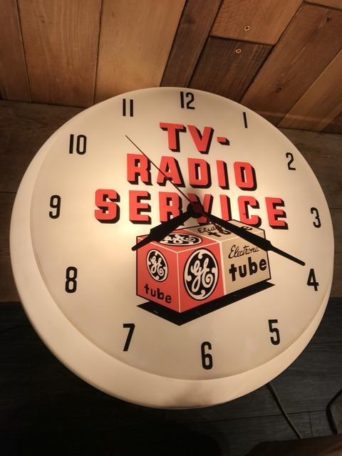 vintage TV radio service lighted wall clock (20)