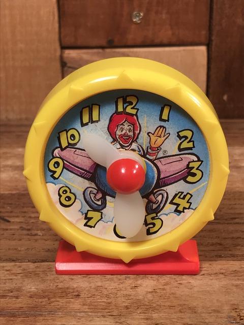 "Vintage McDonald's ""Ronald"" Clock Happy Meal Toy (1)"