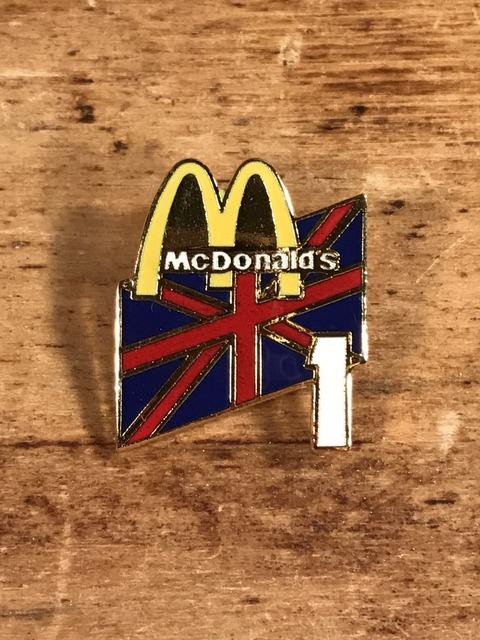"Vintage McDonald's ""Union Jack 1"" Metal Pins (1)"
