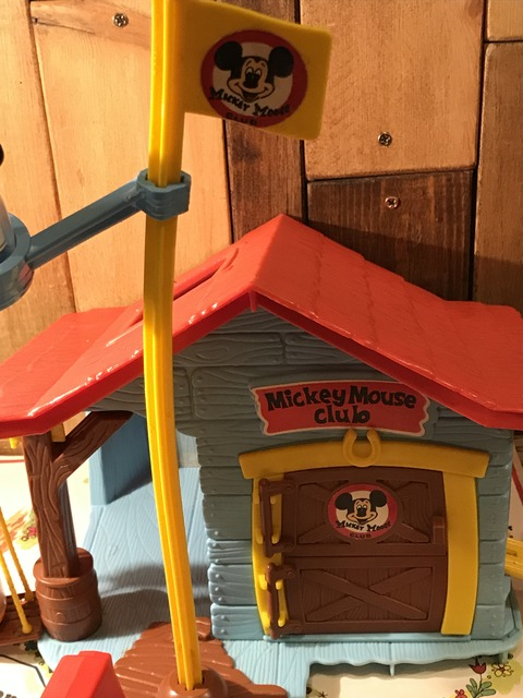 vintage hasbro weebles mickey mouse club house playset  (4)