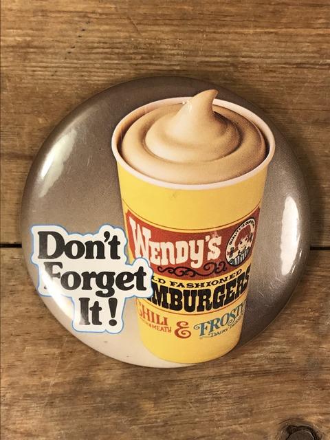 Vintage Wendy's Restaurant Big Pinback (128)