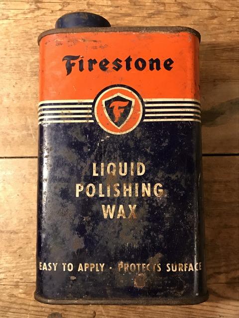vintage firestone liquid polishing wax tin can (5)
