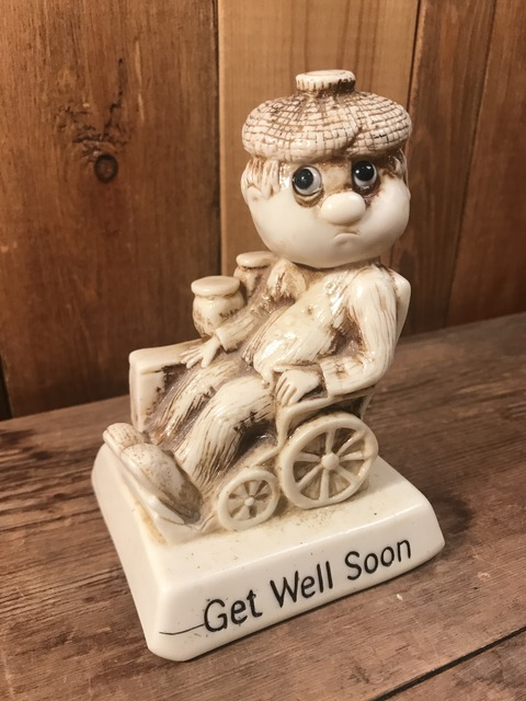 "vintage sillisculpts ""get well soon""message doll (2)"