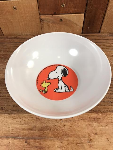 Vintage Peanuts Snoopy & Woodstock Plastic Bowl