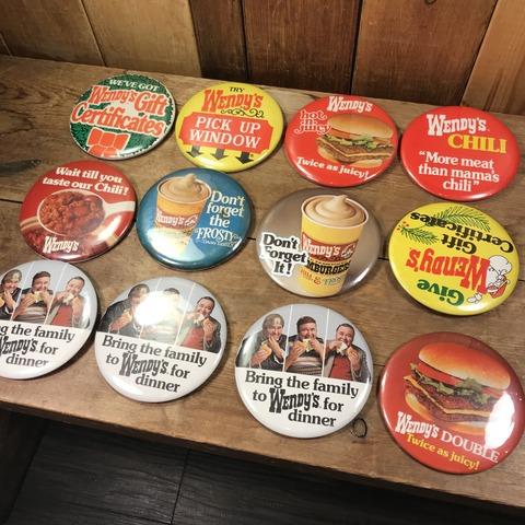 Vintage Wendy's Restaurant Big Pinback (183)