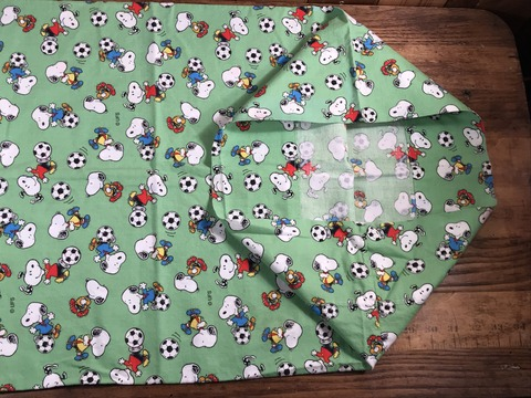 """Vintage Peanuts Snoopy """"Football"""" Pillow Case (19)"""