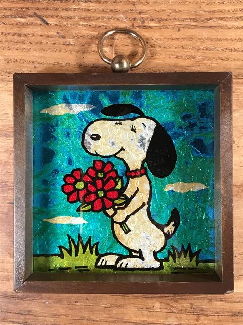Vintage Peanuts Snoopy Aluminium Art Wood Wall Hanging (1)