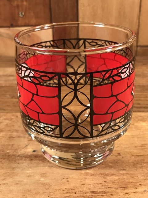 """Vintage Dairy Queen """"Stained Glass"""" Glass Cap (6)"""