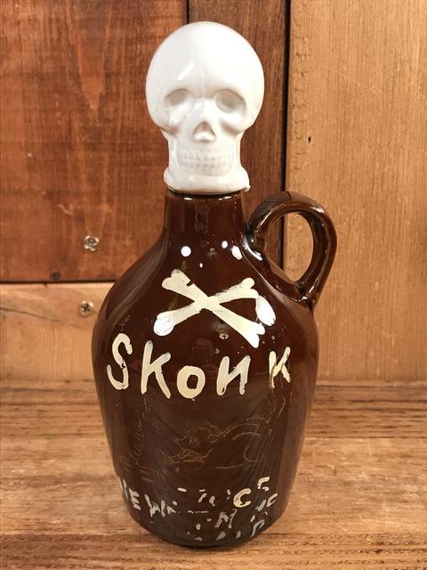 Vintage Skonk Poison Skull Decanter (1)