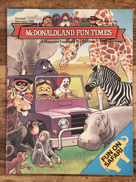 "Vintage McDonaldland Fun Times ""Fun On Safari"" Magazine (1)"