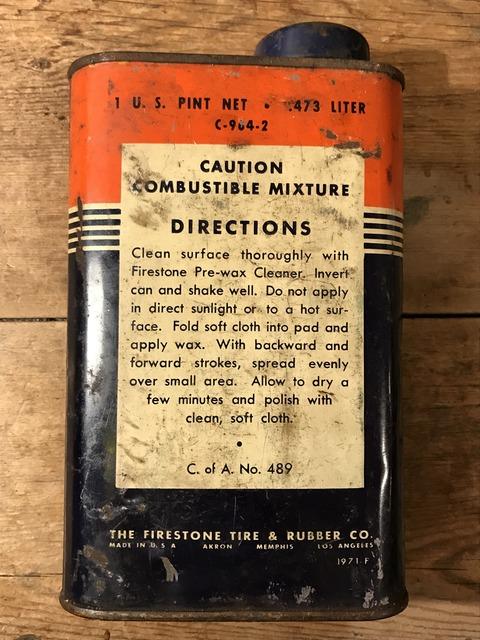 vintage firestone liquid polishing wax tin can (6)