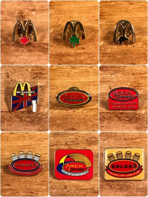 Vintage McDonald's Metal Pins (3)