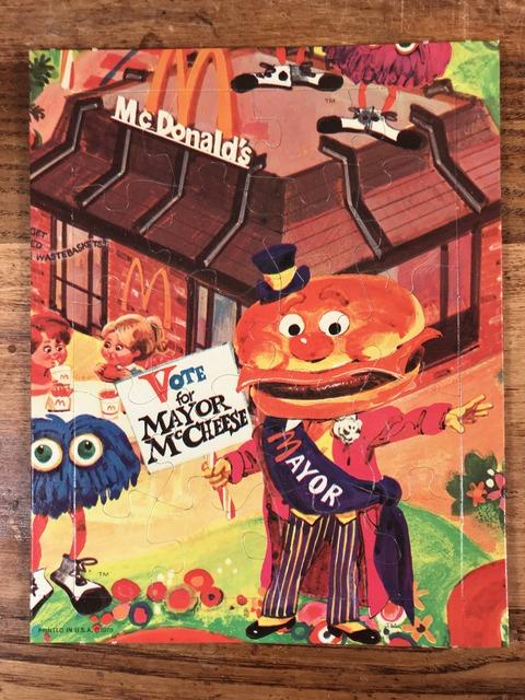 """Vintage McDonaldland """"Mayor McCheese"""" Mini Jigsaw Puzzle (1)"""