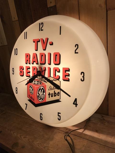 vintage TV radio service lighted wall clock (19)