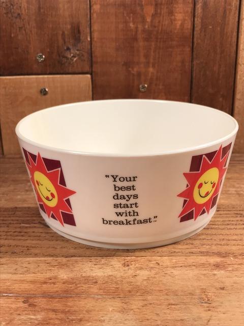 "Vintage Kellogg ""Raisin Bran Sun"" Plastic Cereal Bowl (25)"