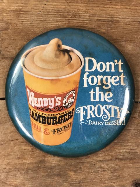 Vintage Wendy's Restaurant Big Pinback (160)