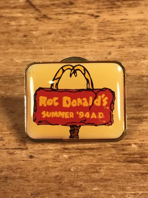 """Vintage McDonald's """"Roc Donald's"""" Metal Pins (1)"""