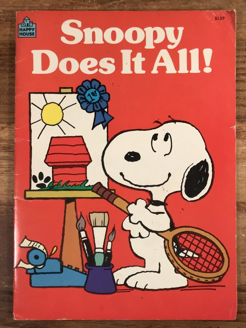 "Vintage Peanuts ""Snoopy Does It All!"" Picture Book (1)"
