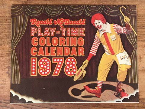 "Vintage Ronald McDonald Play-Time ""1978"" Coloring Calendar (2)"