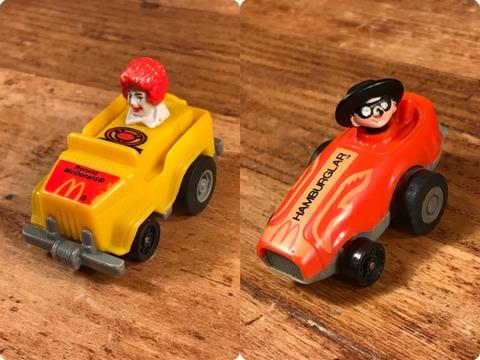 """Vintage McDonald's Fast Macs """"Ronald"""" Pull Back Car"""