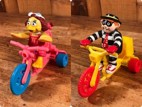 "Vintage McDonald's ""Hamburglar"" Tricycle Happy Meal Toy"