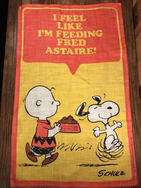 """Vintage Peanuts Snoopy """"I Feel Like..."""" Cloth Tapestry (1)"""