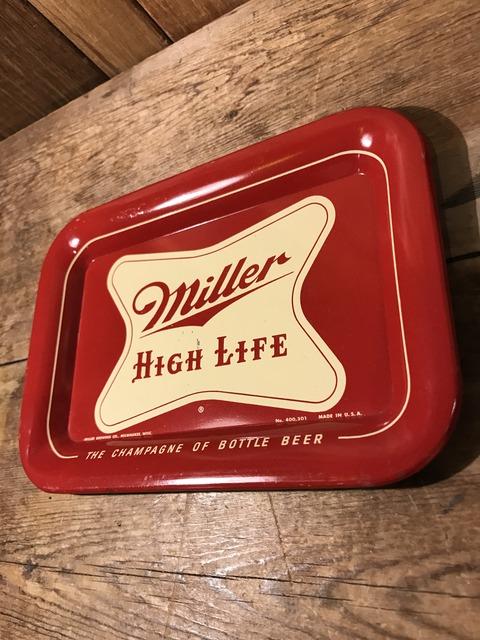 vintage miller high life tin tray (3)