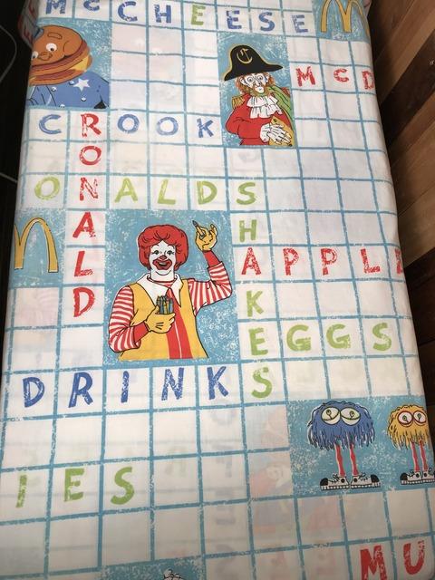 Vintage McDonald's Character Twin Flat Sheet