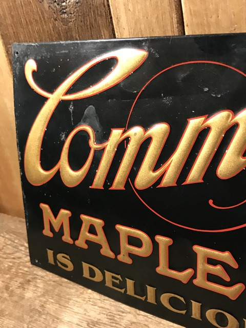 vintage commercial club maple syrup metal sign (14)