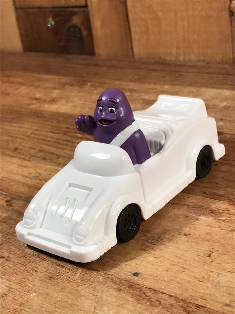 "Vintage McDonald's Connect-a-Car ""Grimace"" Happy Meal Toy (2)"