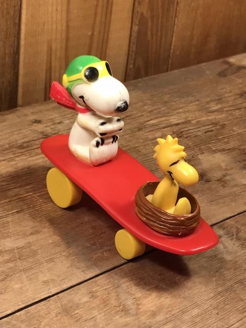 Vintage Aviva Snoopy & Woodstock Skateboard Toy (25)