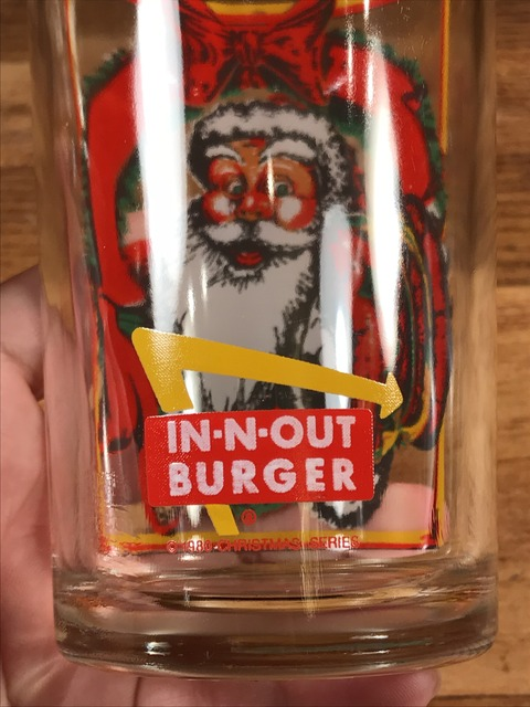"""Vintage In-N-Out Burger """"Santa Claus"""" Glass (14)"""