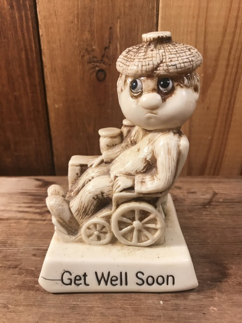 "vintage sillisculpts ""get well soon""message doll (1)"