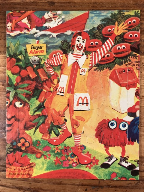 """Vintage McDonaldland """"Ronald"""" Mini Jigsaw Puzzle (1)"""