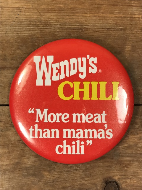 Vintage Wendy's Restaurant Big Pinback (16)